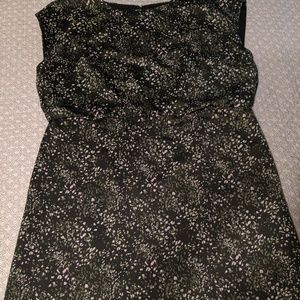 Banana republic size 20 moss green and pink dress